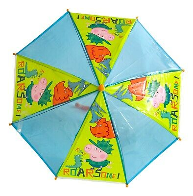 Licensed George Pig Peppa Pig Umbrella Stick, 54cm, Bubble Roarsome