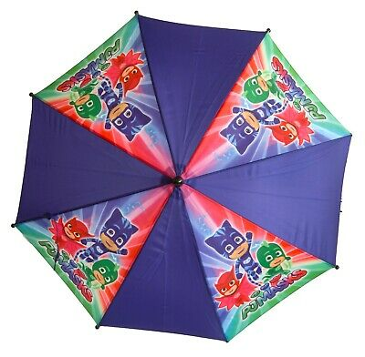 Licensed PJ Masks  Umbrella Stick, 60cm Brolley Boys Kids