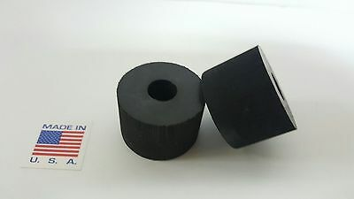 """Rubber Spacer Anti-vibration  1"""" THK X 2-1/2 OD X 1/2 ID MADE IN THE USA 4 pack"""