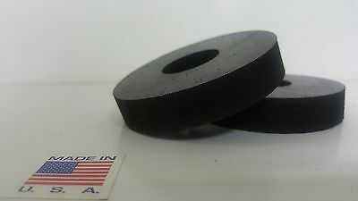 """Rubber Spacer Anti-vibration  1/4 THK X 3/4"""" OD X 1/4 ID MADE IN THE USA 10 pack"""