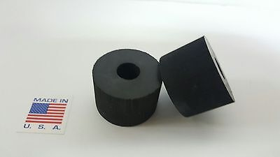 """Rubber Spacer Anti-vibration  1"""" THK X 2"""" OD X1/2 ID MADE IN THE USA 4 pack"""