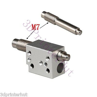 1set 3D Printer Stainless Steel Integrated Nozzle +Heating Block for V6 Hotend