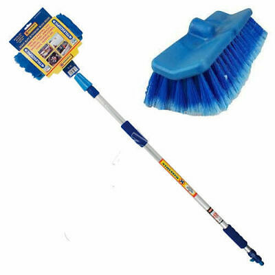Extra Long 2M Car Wash Brush Telescopic Handle Vehicle Cleaning Soft Truck Mop