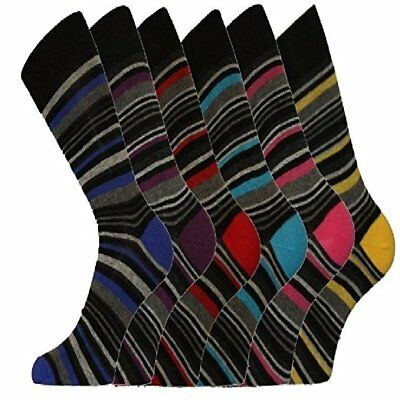 1-12 Pair Mens Socks Size 6-11-Stripe Sock-Argyle Sock-Pattern Socks-Gents Socks