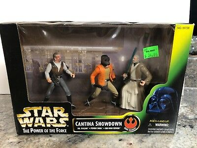 Star Wars Power Of The Force Action Figures Cantina Showdown NIB