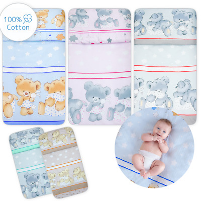 2 Piece 100% Cotton Duvet Cover Pillowcase Set All Sizes for Baby Crib Cot Bed
