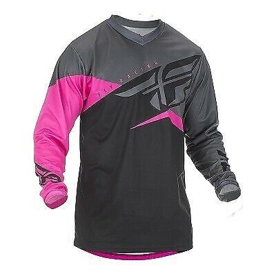 Fly 2019 F 16 Youth Jersey Neon Pink/black/grey Enduro Off Road Motox Motorcross