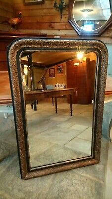 Large French Antique Vintage Louis Philippe Mirror.