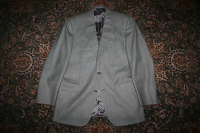 Brooks Brothers Blue Green Houndstooth Wool Two Button Sport Coat 40 R