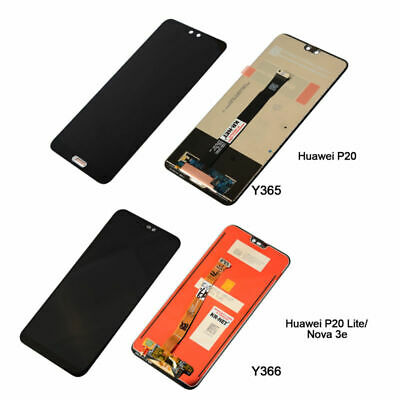 PER HUAWEI P20 / P20 Lite LCD TOUCH DIGITIZER SCREEN VETRO  SCHERMO NERO REEL02