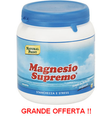 MAGNESIO SUPREMO NATURAL POINT 300 Gr - RECUPERO STANCHEZZA MENTALE