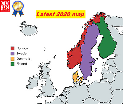 Norway-Denmark-Finland-Sweden Map 2019 for Garmin GPSs