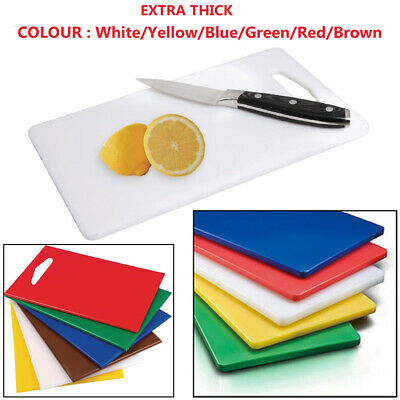 Chopping Board Cutting Kitchen Boards Colour Thick Large Medium Small Plastic UK