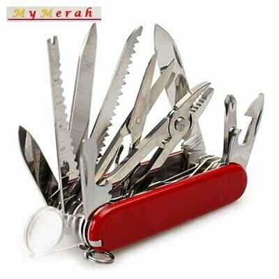 Victorinox Swiss SD Pocket Knife 91mm Translucent Ruby Red Army 30 tools set