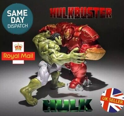 Hulk Vs Hulkbuster Avengers Figure Set End Game Infinity War Ultron UK Seller