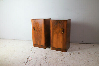 Pair of 1930's art deco bedside cabinets