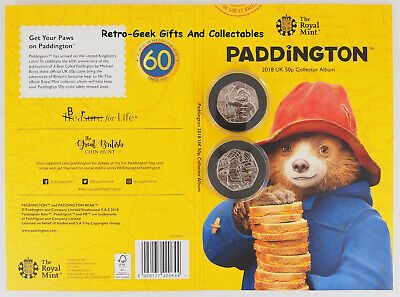 Paddington Bear Complete Coin Album With Coins Collectors Gift Set By Royal Mint