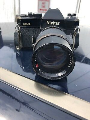 Vintage Vivitar 400/SL 35mm Film Camera with Chignon 135mm Lens