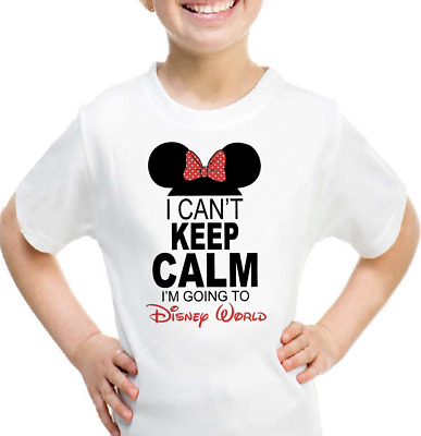 Cant Keep Calm I'm Going to Disney World Minnie Mouse T-shirt Kids & Women Size