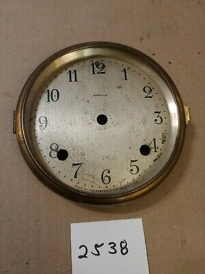 Antique Ansonia Tambour Mantle Clock Dial And Bezel No Glass