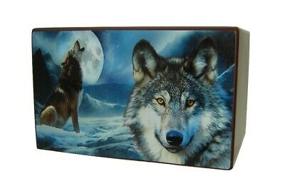 Wolf Urn for Human Ashes Adult Size