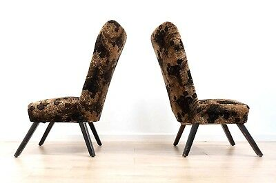 Superb Pair of Mid Century Vintage Teak 1950's Cocktail Occasional Chairs /491