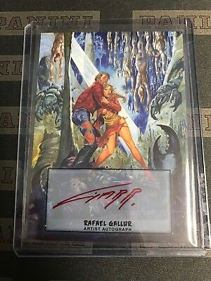 2013 Topps Mars Attacks: Invasion RAFAEL GALLUR ARTIST AUTO AUTOGRAPH SP #31