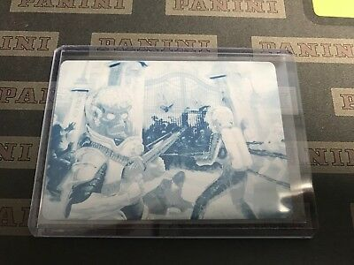 2013 Topps Mars Attacks: Invasion CYAN 1/1 PRINTING PLATE #3 Buckingham Massacre
