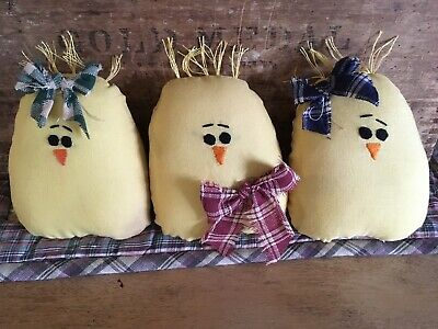 ~~~Primitive Easter Chicks Peeps Ornies~PATTERN #241