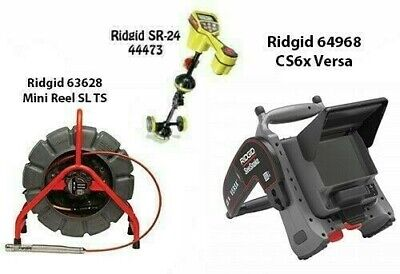 Ridgid 200' SLTS Mini Reel(63628)SeekTech SR-24 Locator(44473) CS6x Versa(64968)