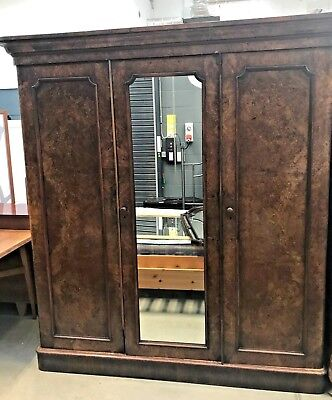 Antique Burr Walnut large fully fitted lovely wardrobe