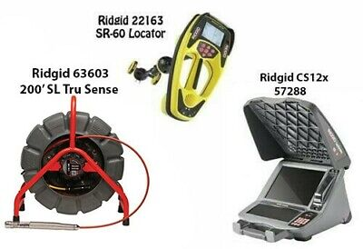 Ridgid 200' SL TS Color Reel (63603) SeekTech SR-60 Locator (22163) CS12x(57288)