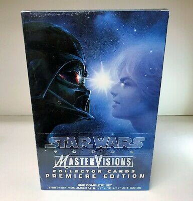 Star Wars MasterVisions - Sealed Box of 36 Large Collector Cards - Topps 1995