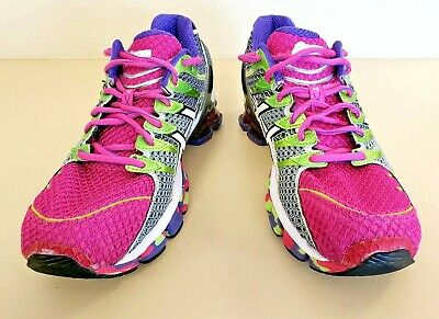 reputable site 90382 f8b54 Women s Asic Gel Kinsei 4 Purple Green Pink Running Shoes   Size 9.5