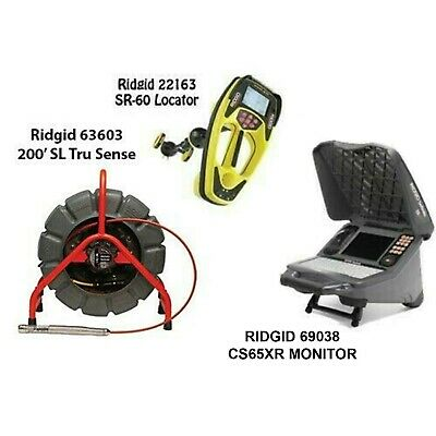 Ridgid 200' SL TS Color Reel (63603) SeekTech SR-60 Locator (22163) CS65x(55978)