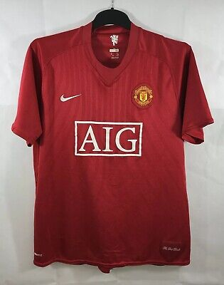 Manchester United Home Football Shirt 2007/09 Adults XL Nike