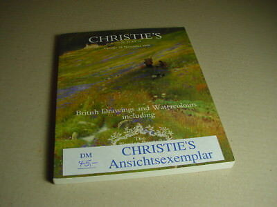 CHRISTIE`S Auktionskatalog British Drawings and Watercolors 24. November 1998.