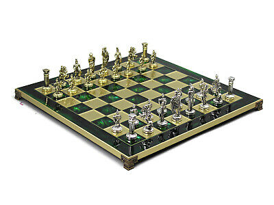 "Chess Set Chess Board Handmade Greek Roman Board Pieces Made In Greece 13"" 301G"