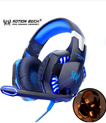 KOTION EACH Gaming Headphones Headset Deep Bass Stereo wired game