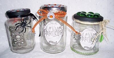 Glass Jars Love Potion Lotion Labels Apothecary Decorative Organizer Steampunk