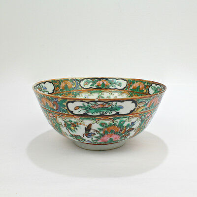 Old or Antique Chinese Export Porcelain Rose Medallion Bowl - PC