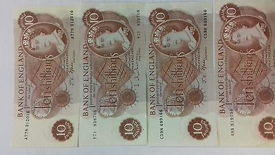 10 shilling note British old note