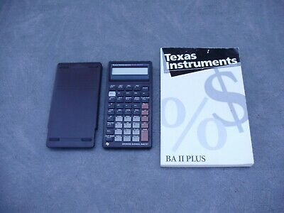 TEXAS INSTRUMENTS BAII PLUS ADVANCED FINANCIAL CALCULATOR with GUIDEBOOK