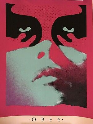 OBEY Shadowplay (Blue) **Signed & Numbered** Screen Print Shepard Fairey