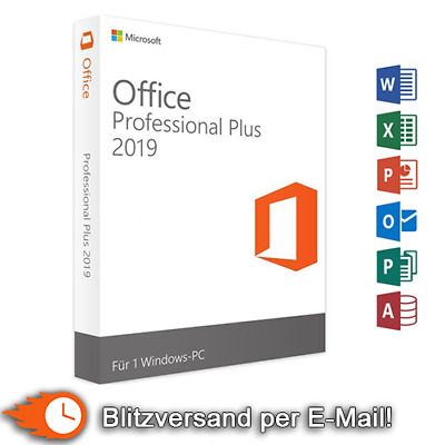 Microsoft Office 2019 Professional Plus MS Office Pro Retail Vollversion