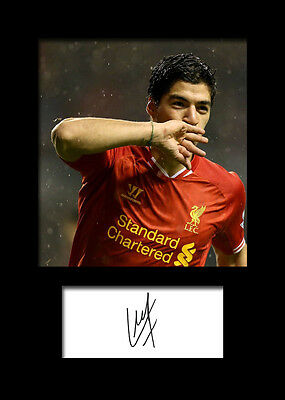 LUIS SUAREZ #3 (Liverpool) Signed A5 Mounted Photo Print - FREE DELIVERY