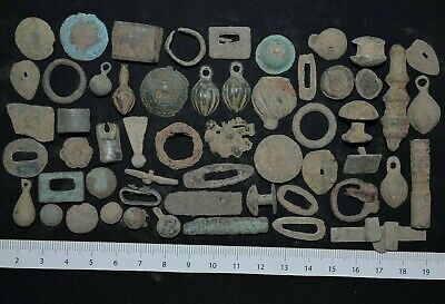 Group of over 50 Ancient Viking Bronze Excavations. Detector Finds, 950-1000 Ad