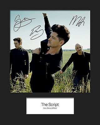 FREE DELIVERY THE SCRIPT #4 10x8 SIGNED Mounted Photo Print