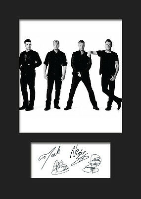 WESTLIFE #2 Signed Photo Print A5 Mounted Photo Print - FREE DELIVERY
