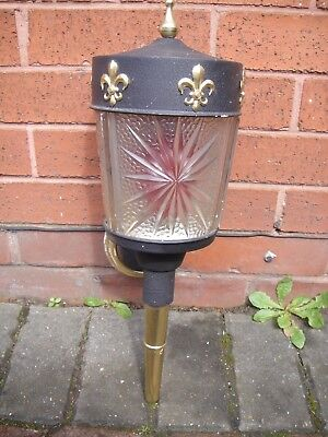 Reclaimed Vintage Art Deco Wall Light (  With Glass Shade)